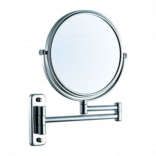 DEUSENFELD K5C - Doppel Wand Kosmetikspiegel, Rasierspiegel, Schminkspiegel, 5-fach Vergrößerung...