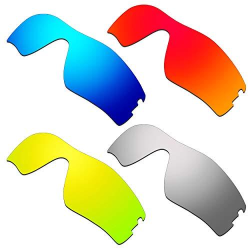HKUCO Verstärken Ersatz-Brillengläser für Oakley Radar Pitch Rot/Blau/24 Karat Gold/Titan Sonnenbrille
