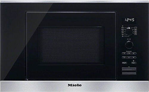 Miele M6032SC D Mikrowelle / 800 Watt / 17 Liter / Edelstahlgarraum / LED-Beleuchtung / edelstahl / clst