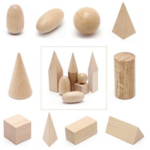 Vivianu Montessori-Lernressourcen Aus 3-D-Formen Aus Holz Mit Geometrischen Körpern Für Das Schulheim