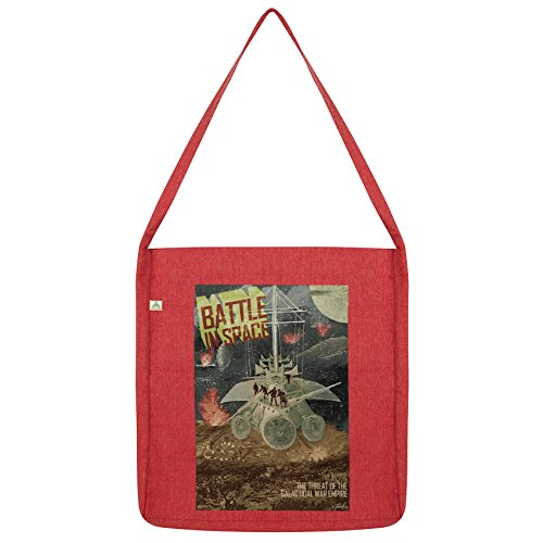 Twisted Envy Galactic Battle in Space Tote Red