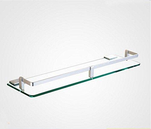 FACAI Badezimmer Rack Wall Mount Space Aluminium Sicherheitsglas eloxiert, 30 cm