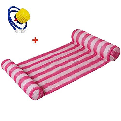 hwimmende Wasser Hängematte Schwimmer Lounge Bett Schwimmbad Stuhl mit Pumpe - Rosa ()