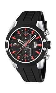 Reloj Lotus 15743/5 de cuarzo para hombre con correa de caucho, color negro de Lotus
