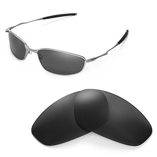 Walleva Ersatzgläser für Oakley Whisker Sonnenbrille - Mehrfache Optionen (Schwarz - polarisiert)
