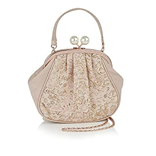 Ruby Shoo Women's Rose Gold Arco Pouch Evening Bag