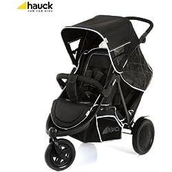 Hauck Freerider cochecito–Negro (Inc Protector de lluvia)