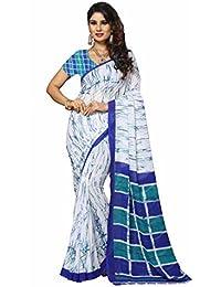 V-Art Cotton Silk Saree With Blouse Piece