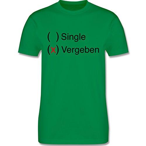 Statement Shirts - Vergeben - Herren Premium T-Shirt Grün