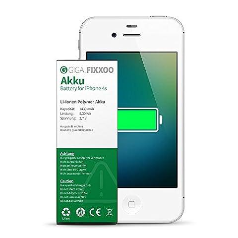 GIGA Fixxoo iPhone 4s Akku Ersatz zum Wechseln und Tauschen bei Defekter Batterie