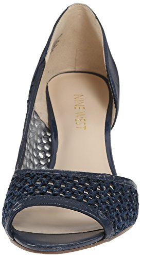 Nine West Not At All Femmes Toile Talons BLU-Blu