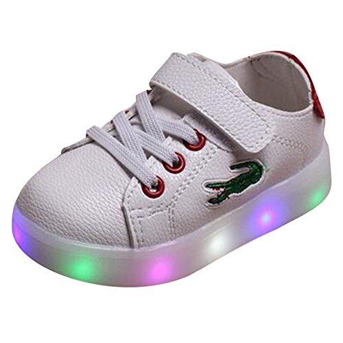 hibote Enfant garçons Filles LED Light Up Chaussures rouge Taille 21