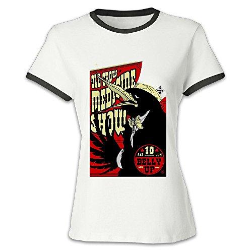 alonk-womens-old-crow-medicine-show-album-logo-short-sleeve-t-shirts-xl-black