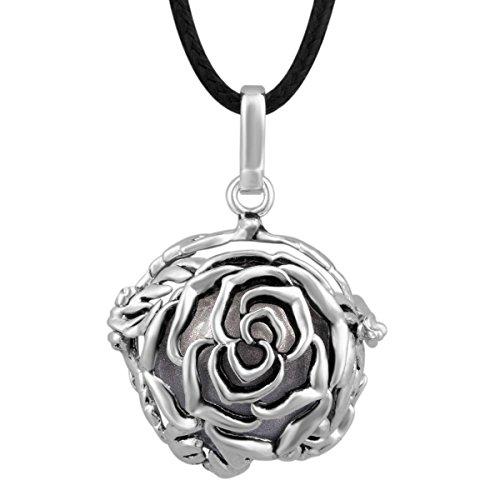 Eudora Harmony-Pendente donna con Rose Lockets Mother's Day, in argento Sterling, gioielleria, colore: dim gray, cod. K13-4
