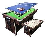 Simba Billardtisch 7 FT und Tischhockey und Tischtennistisch und Tischdecke
