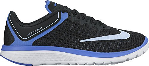 Women's Nike FS Lite Run 4 Running Shoe Black/Aluminum/Medium Blue/White Size 10 M US (Lite-basketball-schuhe)