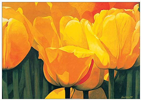 Artopweb TW20318 Christian - Yellow Time For Tulips Dekorative Paneele, Multifarbiert,100x70 Cm