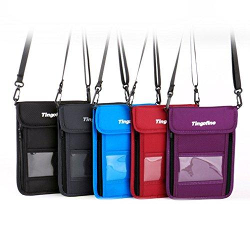 Outdoor RFID Diebstahlsicherung Wallet Brustbeutel Reise Gurt Schulter Tasche Handy Passport Tasche mit Reißverschluss Karte Halter