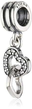Pandora 791242CZ Verschränkte Herzen Charm-Anhänger