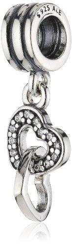 - 41S938gpzzL - Pandora Women's 925 Sterling Silver Cubic Zirconia Hearts Charm