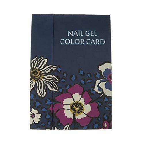 Livre d'affichage Graphique des Couleurs Nail Art Gel de Couleur de Vernis à Ongles Salon 180 Couleurs - Bleu Foncé, Bleu Foncé