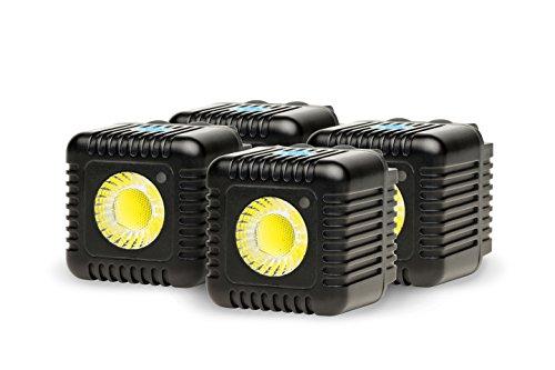 Lume Cube Action-Kamera Licht, 4-Pack schwarz (4 Iphone Flash)