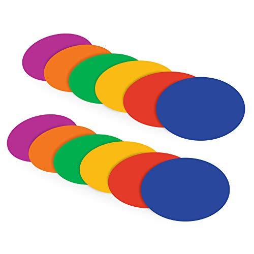 Kikilive Poly Spot Marker,für Bohrer Sport Agility Soccer für Training,Fußball,Kinder,Sport,Feldmarkierungen,12 stück -