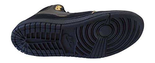nike air jordan 1 flight-GP 2 hi-top Sneaker 631787 sneakers black metallic gold coin black 070