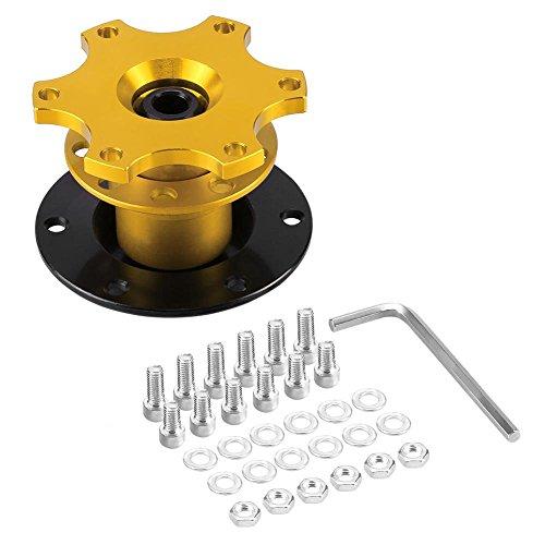 Auto-Lenkradnaben-Adapter, universell, goldfarben, Schnellösemechanismus, Racing-Adapter, leicht abnehmbar