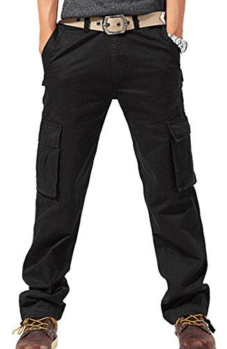 Feoya Herren Arbeitshose Wasserwäsche vintage Cargohose Mehrere Tasche  Hosen aus Baumwolle Trekkinghose Loose-Fit Outdoor Freizeithose größe 34 EU  49(Taille ... 7dc5b67f12
