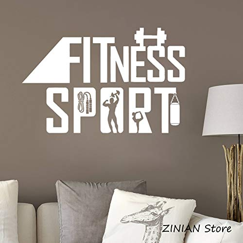 Deporte Fitness Vinilo Tatuajes de pared Mural estilo de vida saludable etiqueta de la pared extraíble...