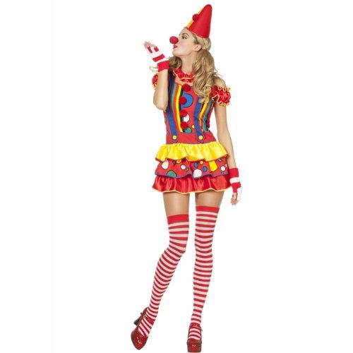PARTY DISCOUNT NEU Damen-Kostüm Sexy Clown Bubbles Gr. 36 (Sexy Clown Kostüm)