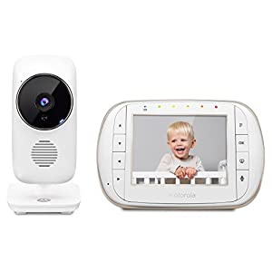 """Motorola MBP668CONNECT Video Baby Monitor with 3.5"""" Handheld Parent Unit and Wi-Fi Hubble Connected App for Smartphones & Tablets   12"""