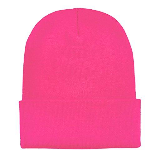 Imagen de dondon gorro de invierno gorro de abrigo diseño clásico moderno y suave rosa neón i alternativa