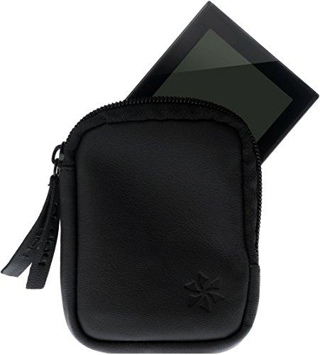 honju Bike Echtledertasche für Yamaha PW-Series / Pedelec Tasche [Displayschutz, Innentasche für Schlüssel, Schutz vor Kratzer & Schmutz] - schwarz