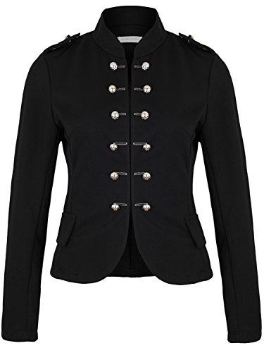 Damen Blazer Militäry Style ( 514 ), Farbe:Schwarz, Kostüme & Blazer für Damen:38 / M (Kostüme Sportliche)