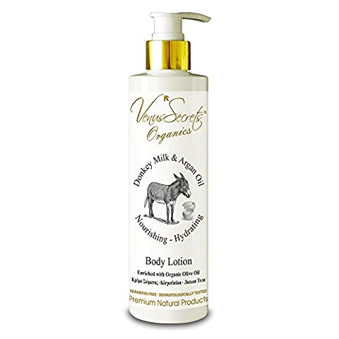 Body Lotion With Donkey Milk - Body Moisturiser For Dry Skin - 250ml - (Donkey Milk & Argan Oil)