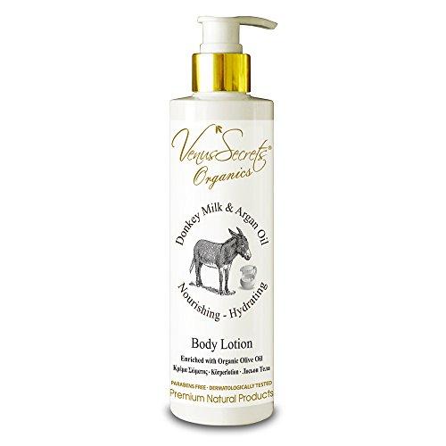 Body Lotion With Donkey Milk - Body Moisturiser For Dry Skin - 250ml - (Donkey Milk & Argan Oil) - Dry Oil Body