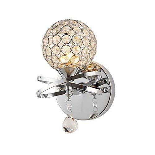 nouler Crystal LED Wandleuchte, Vintage Diamond Schlafzimmer Nacht Bauernhaus Lampe engagiert, im Hotelzimmer K9 Single Crystal Ehe Dekoration Lampen Kopf E 14 12 * 22 cm, 13 * 22cm -