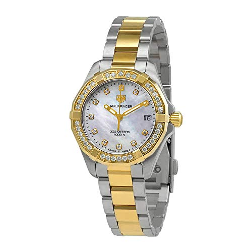 Tag Heuer Aquaracer madre di Pearl diamante quadrante Ladies orologio WBD1323.BB0320