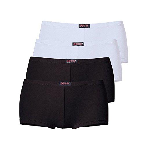 H.I.S Damen Pantys, 4 er Pack (50, farb-set) (Set Panty Logo)