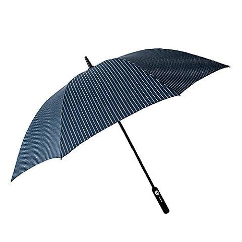 Poignée de parapluie de poignée longue de cru de style britannique Parapluie de bâton de style britannique avec la couverture ( Couleur : Blue diagonal stripe )