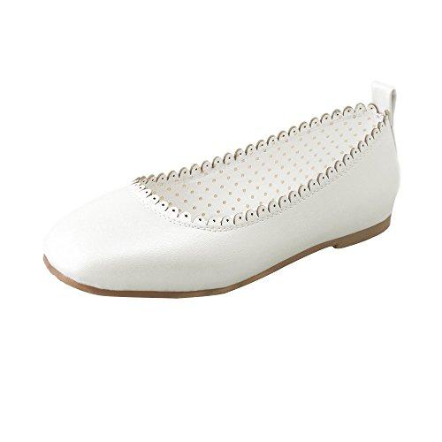 Longra Donne Scarpe Pea Scarpe casual Danza Moda Bianca