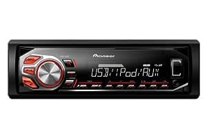 Pioneer MVH-160UI - Autoradio MP3/WMA/WAV - 4x50W - USB/AUX - Rouge - 2014