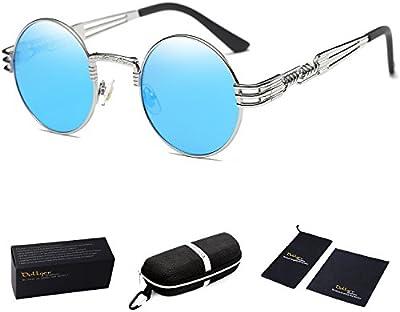 Dollger John Lennon Punk Steampunk gafas de sol marco del ronda y metal