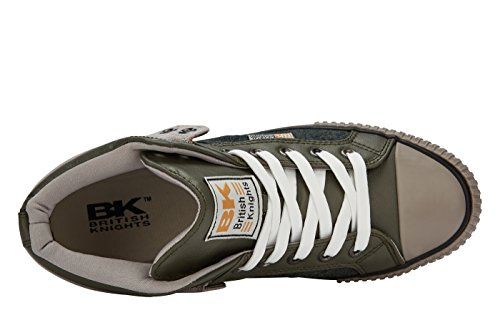 British Knights ROCO HERREN HIGH-TOP-SCHUH SNEAKER OLIVE/GRIS CLAIR/GRIS