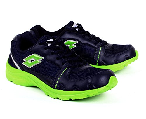 Lotto Men's Tracker Navy and Lime Green Mesh Running Shoes - 7 UK/India (41 EU)