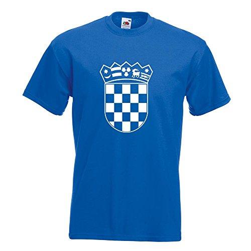 KIWISTAR - Flagge Kroatien Wappen T-Shirt in 15 verschiedenen Farben - Herren Funshirt bedruckt Design Sprüche Spruch Motive Oberteil Baumwolle Print Größe S M L XL XXL Royal