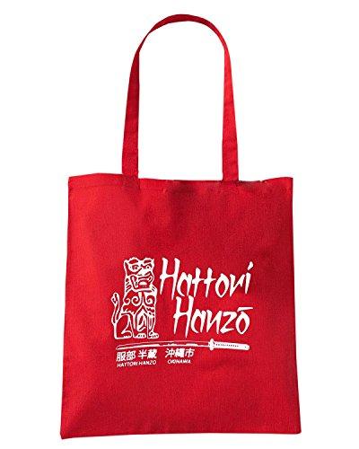 T-Shirtshock - Borsa Shopping TGAM0034 Hattori Hanzo T-Shirt Rosso