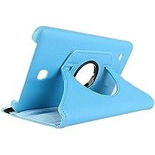 Samsung Galaxy Tab 4 T230 Caparazon protector - SODIAL(R)Fundas Para Samsung Galaxy Tab 4 Tablet SM-T230 SM-T231 Rotacion de 360 cascara (azul)